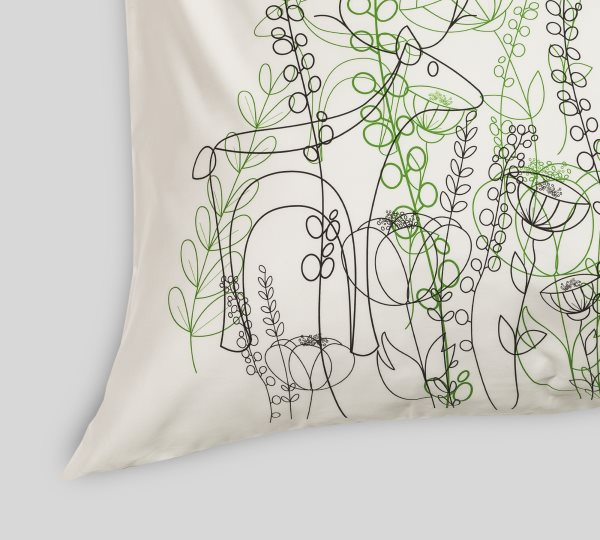 Printed pillowcase (2 pieces) | Secret Garden