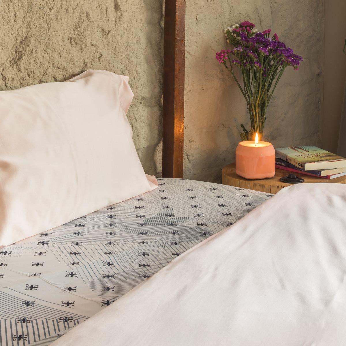 cream sateen flat sheet