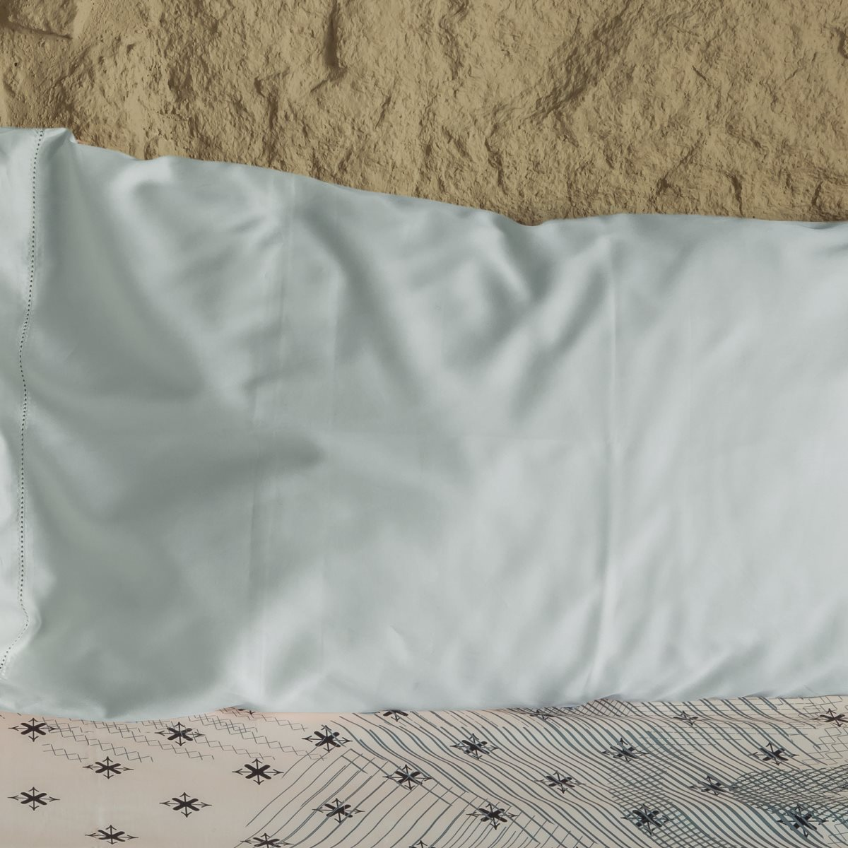 cream sateen pillowcase