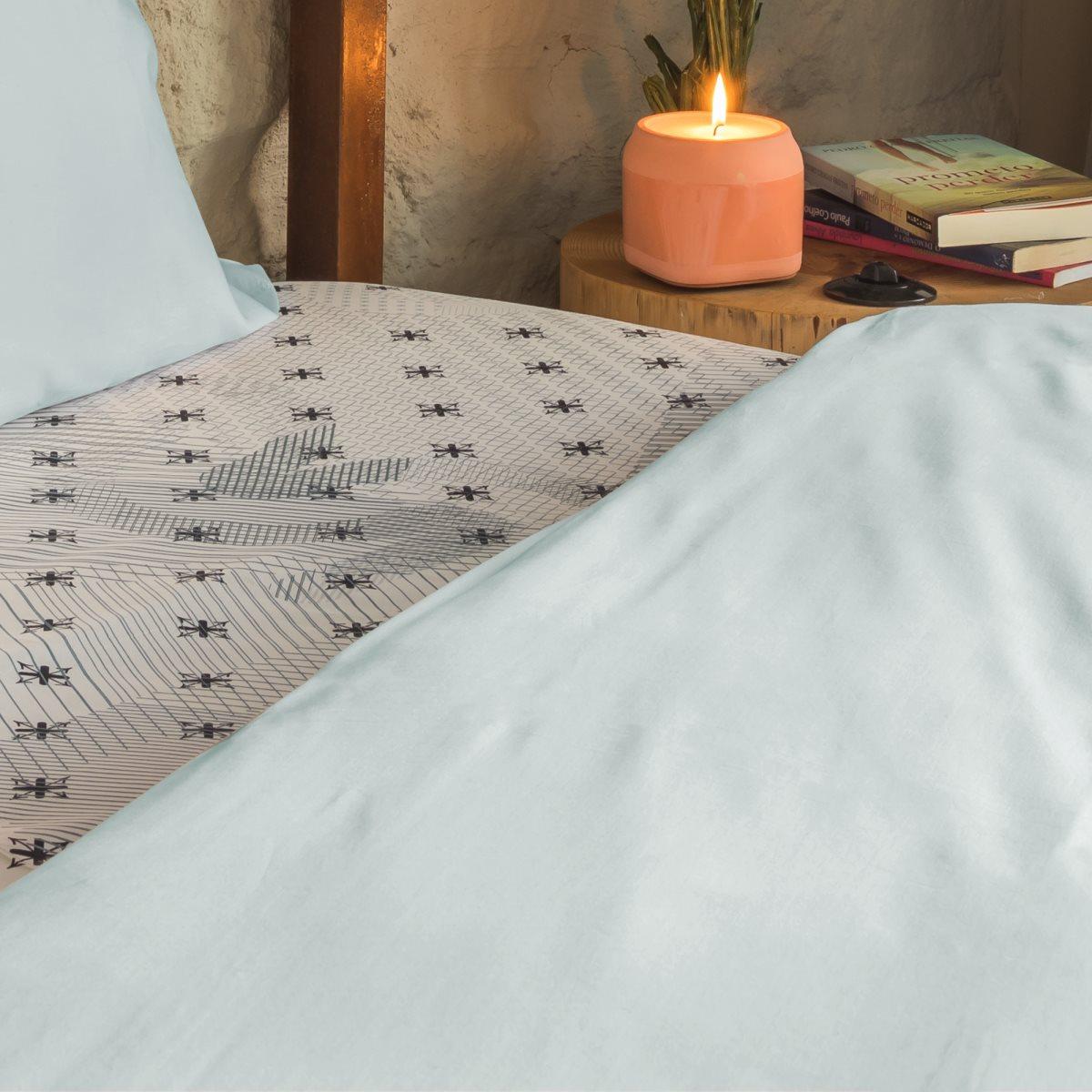 sateen floral pillowcase